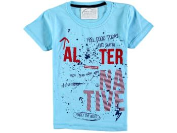 футболка 302795 голубая