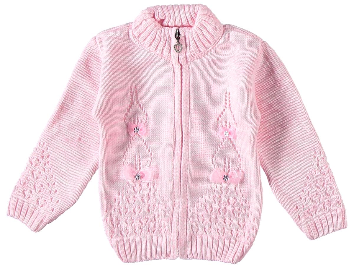 Кофта вязаная розовая 307160